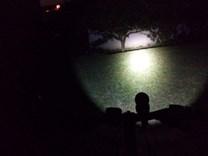 LED Svítilna Bronte R50 na kole_noc
