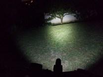 LED svítilna Bronte X03 na kole_noc