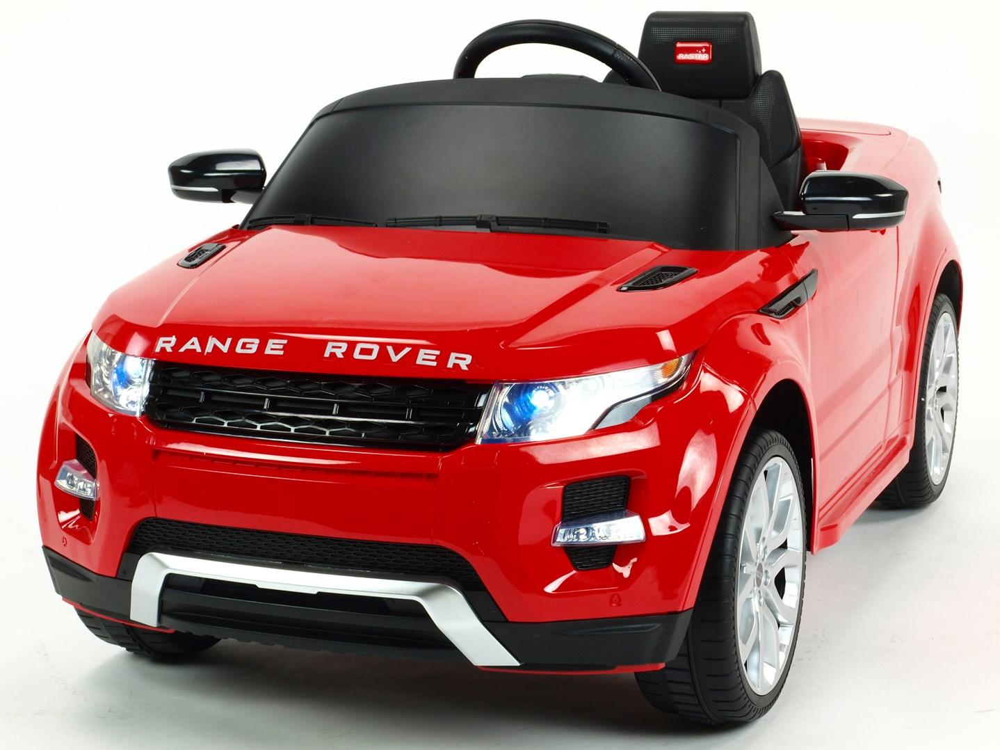 Dětské el. autíčko Licenční Range Rover EVOQUE červená přerní pohled