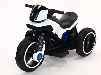 Dětská elektrická motorka VELKÁ 101cm s měkkými EVA koly,bílá