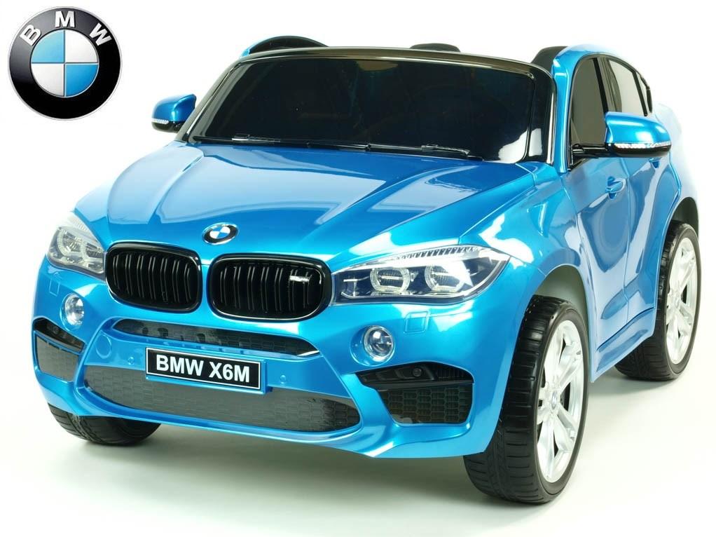 Dětské elektrické autíčko BMW X6M dvoumístné s 2,4G DO, modré