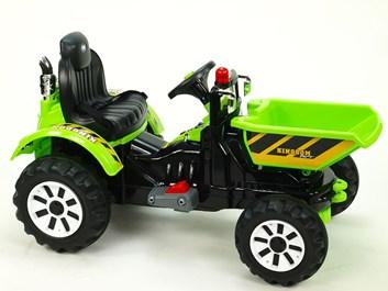 Dětský elektrický traktor Kingdom s přední vanou - SLOŽENÝ  1 KUS