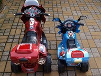 Dětská elektrická motorka Viper policie