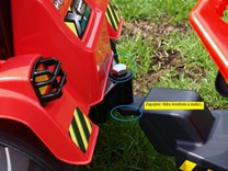 Dětský elektrický traktor 12V s 2,4G dálkovým ovládáním, mohutnými koly modrý