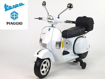 Dětský elektrický  skútr Piaggio Vespa bílá
