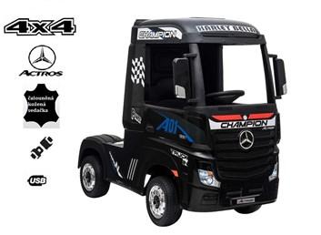 Dětský elektrický tahač Mercedes Benz Actros 4x4  černý