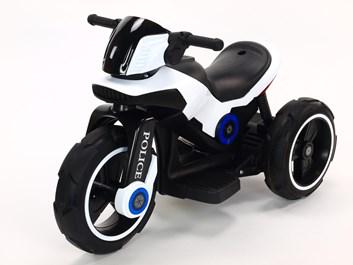 Dětská elektrická motorka VELKÁ 101cm s měkkými EVA koly,  SLOŽENÁ bílá