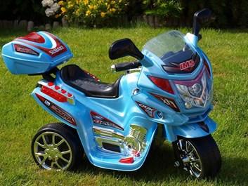 Dětská elektrická motorka Viper policie modrá SLOŽENÁ