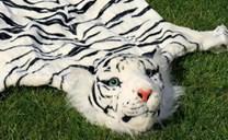 Plyšová předložka - tygr bílý - M