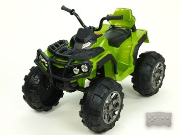 Dětská elektrická čtyřkolka Predátor LUX s dálkovým ovládáním 2,4G zelená