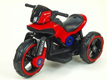 Dětská elektrická motorka VELKÁ 101cm s měkkými EVA koly,červená