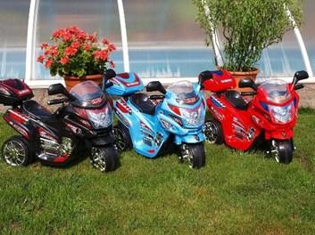 Dětská elektrická motorka Viper policie červená