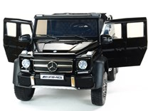 6-ti kolový Mercedes G63 AMG 4x4, dvoumístný, s 2.4G DO, plynulým rozjezdem, USB, otvíracími dveřmi, kapotou, čelem, pérováním, EVA koly, lakovaný ABL1801LAK. black