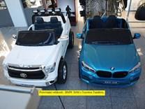 BMW X6M dvoumístné s 2,4G DO, el. brzdou, EVA koly, otvíracími dveřmi, USB, Mp3, voltmetrem, 55cm čalouněnou sedačkou JJ2168L red