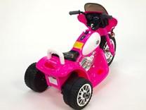 Dětská elektrická motorka Policie růžová