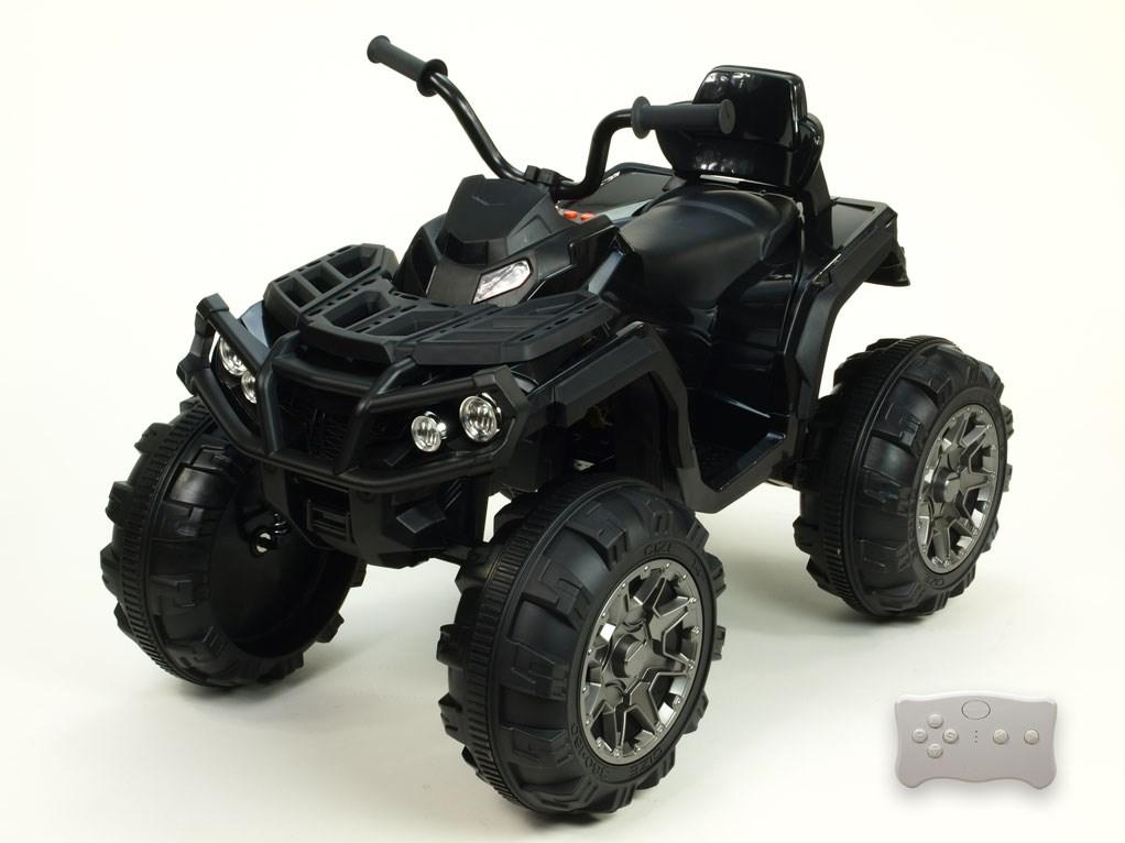 Dětská elektrická čtyřkolka Predátor s dálkovým ovládáním 2,4G  BDM0906 RC- black