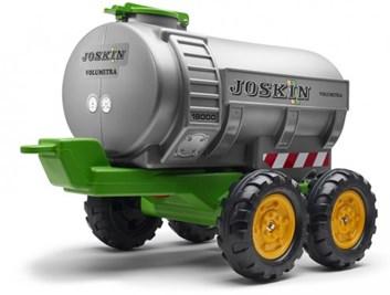 Cisterna za traktor, čtyřkolová zelené barvy