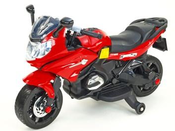 Dětská silniční závodní motorka 12V červená