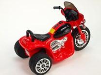 Dětská elektrická motorka Policie červená