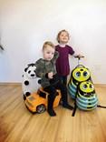 Dětský cestovní kufr  OPICE se stavebnicí