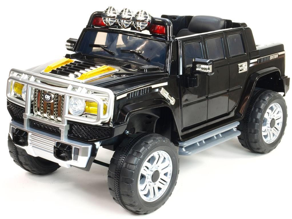 Mohutný elektrický džíp styl H2 Extender LUX s 2,4G dálkovým ovládáním, EVA koly černá
