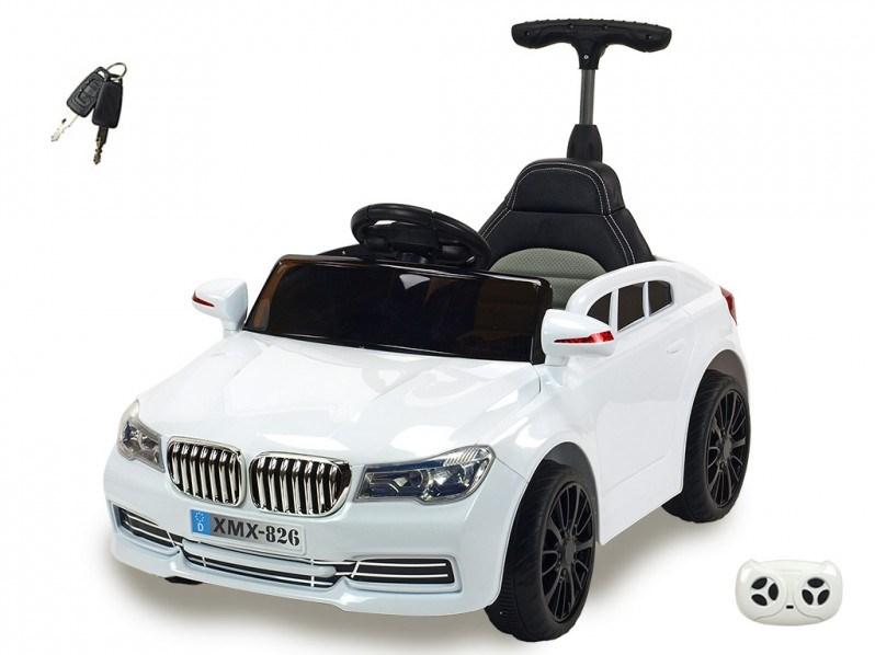 Dětské licenční el. autíčko BMW s vodící tyčí  XMX826.white
