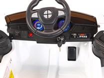 Dětské licenční el. autíčko BMW s vodící tyčí bílá