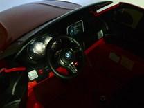 BMW X6M dvoumístné s 2,4G DO, el. brzdou, EVA koly, otvíracími dveřmi, USB, Mp3, voltmetrem, 55cm čalouněnou sedačkou JJ2168L blue