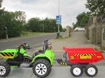 připojení k traktoru který není vybaven  okem pro zapojení vleku