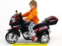 Velká dětská elektrická motorka Rainstar s MP3  - HL219.red
