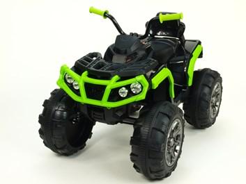 Dětská elektrická čtyřkolka Predátor s dálkovým ovládáním 2,4G , černozelená
