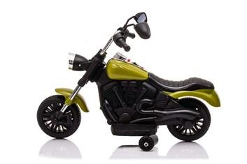 Dětská elektrická  motorka  Chopper zelený
