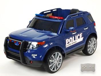 Dětské el. autíčko Policie super speed modrá