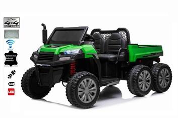 Dětské elektrické farmářské  auto  s 2,4G DO -  zelené