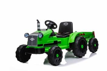 Dětský elektrický traktor s 2,4G DO s vlekem, zelený