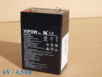 Baterie gelová Vipow 6V/4,5Ah/20HR pro dětská vozítka