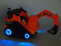 Dětský elektrický bagr oranžový - FL858O