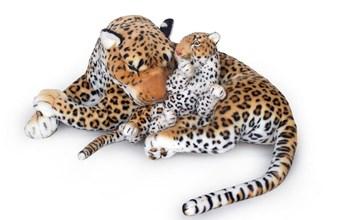 Plyšový leopard s mládětem