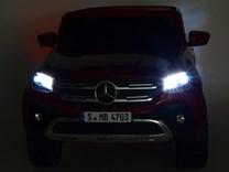 Mercedes – Benz X-Class 4x4, dvoumístný pick up s 2.4G DO, plynulým rozjezdem,USB,Mp4 přehrávač, čalouněním, EVA koly  XMX606.black