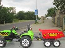 Dětský elektrický traktor Kingdom s přední vanou -  JS328C.green