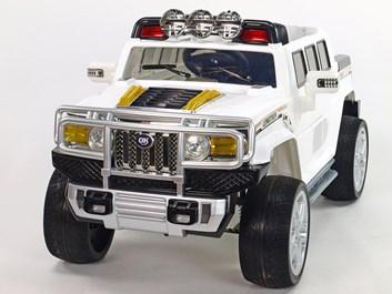Mohutný elektrický džíp styl H2 Extender LUX s 2,4G dálkovým ovládáním, EVA koly bílá SLOŽENÉ