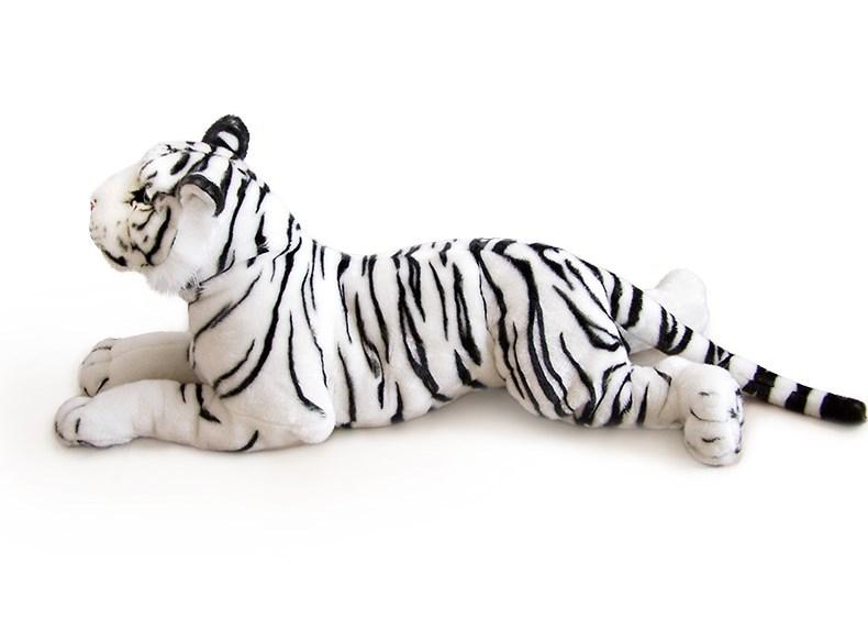 Plyšový tygr bílý ležící