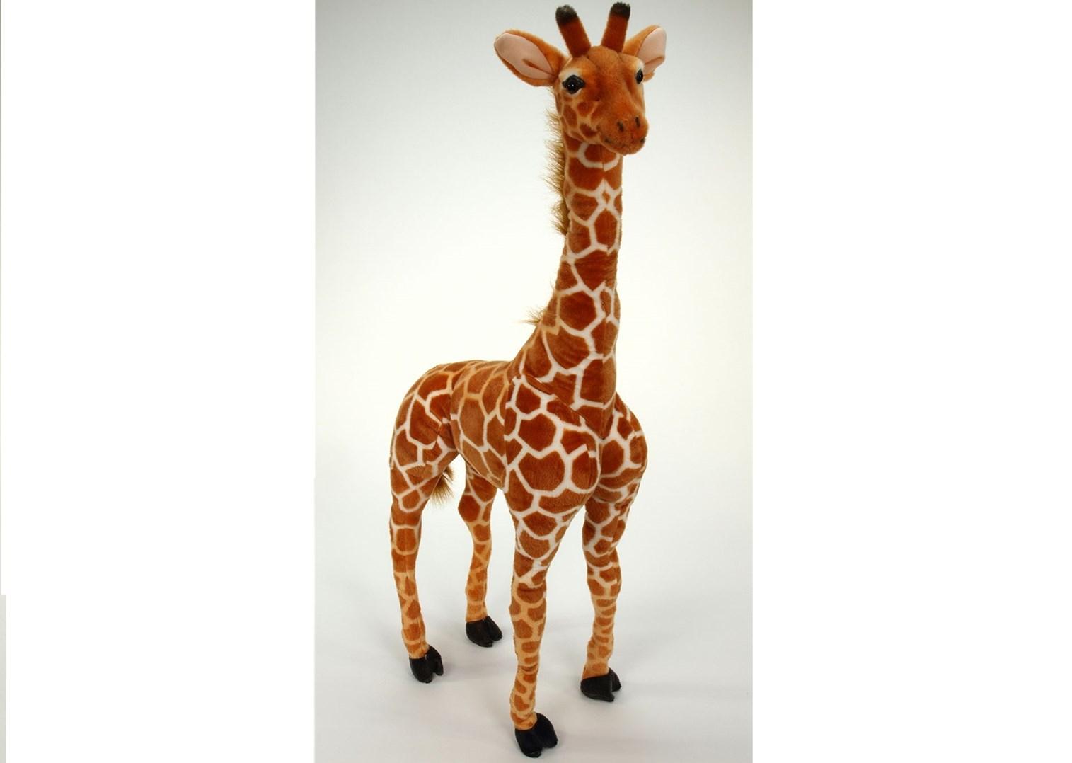Plyšová žirafa stojící