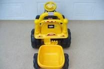 Elektrický traktůrek s vlekem  žlutá