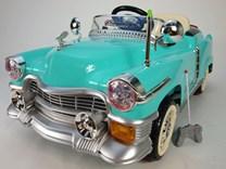 Dětské el. autíčko KUBA RETRO s nafukovacími koly KB5018T.tyrkys