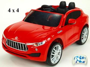 Dětské elektrické auto SUV 4x4(náhon všech 4kol) Maseratspeed s 2,4G dálkovým ovládáním  červená