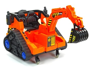 Dětský elektrický bagr oranžový SLOŽENÝ