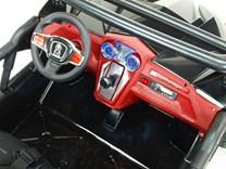 Dvoumístnáa buggy   Cool sport 4x4, náhon 4 EVA kol, s 2.4G DO, USB, TF, Mp3, čalouněnou sedačkou 54cm, nádherným LED osvětlením KL2988.černá