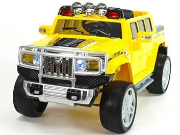 Mohutný elektrický džíp styl H2 Extender LUX s 2,4G dálkovým ovládáním, EVA koly žlutá SLOŽENÉ