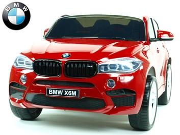 Dětské elektrické autíčko BMW X6M dvoumístné s 2,4G DO, červené